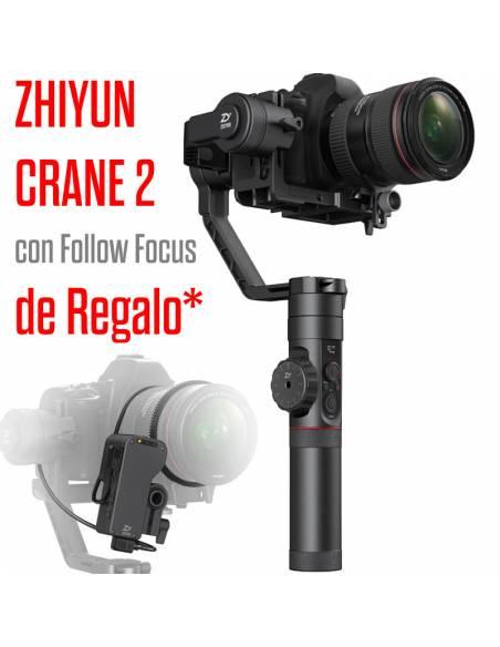 ZHIYUN  CRANE 2 + Gratis Servo Follow Focus (hasta 3,2 Kg)